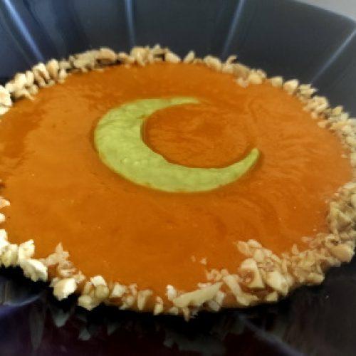 Cover_Crema di pomodori alla vaniglia e di zucchine e scalogno con frutta secca tostata