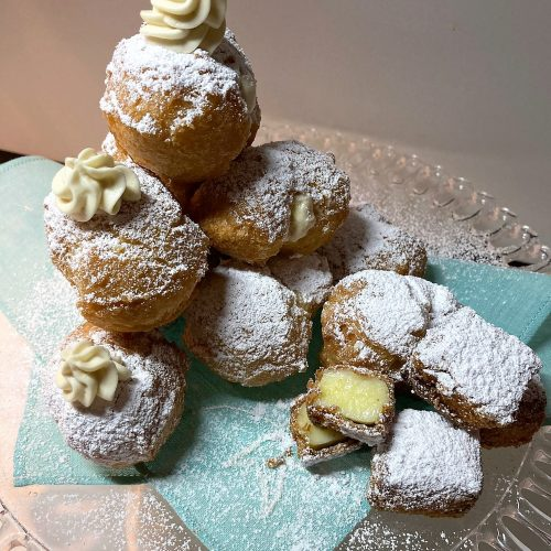 Frittelle di Carnevale allo Zabaione